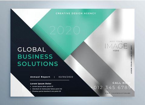 geometric corporate professional business brochure template design