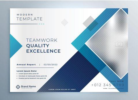 modern business brochure presentation blue template design