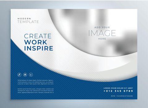 blue wavy business brochure presentation template design