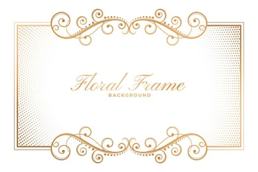 floral frame background in ornamental decorative style