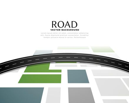 road map journey route pathway background design