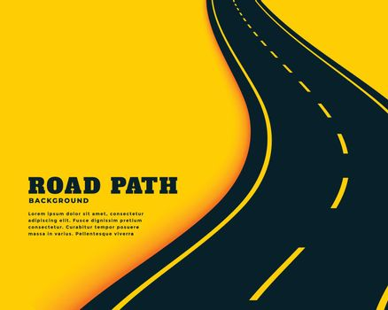winding curve pathway road concept background design