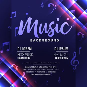 music dj party invitation shiny template design