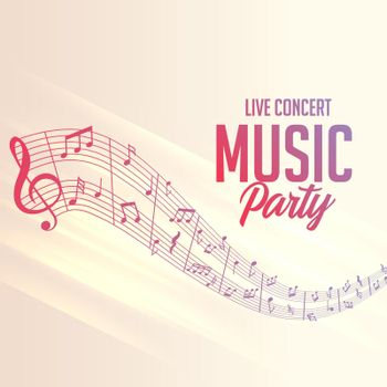 musical notes lines background for party events