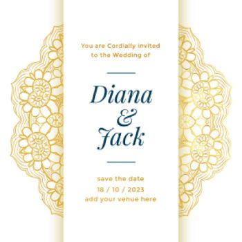 beautiful wedding template design for royal marriage