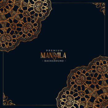decorative mandala ethnic pattern premium background