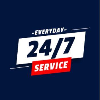 everyday 24 hours service background design