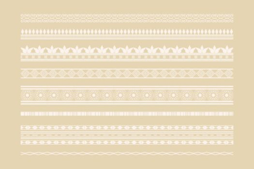 classic ethnic borders and page decoration set