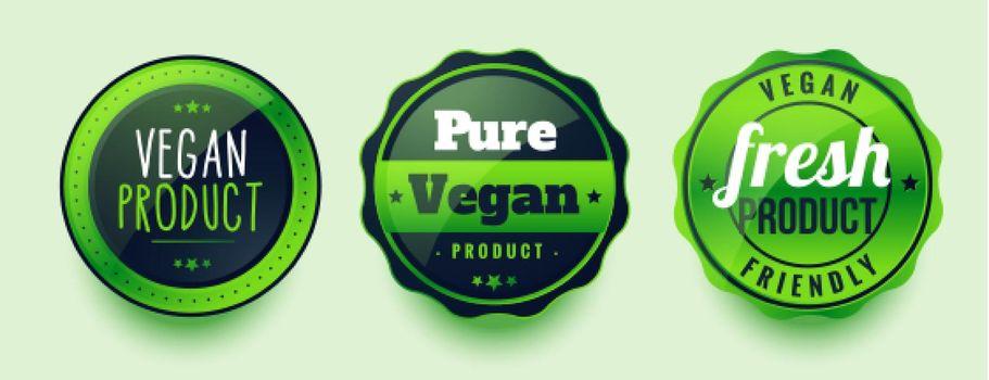 pure vegan fresh labels set of three