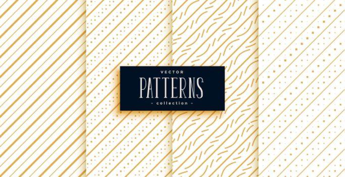 golden diagonal lines classic pattern set
