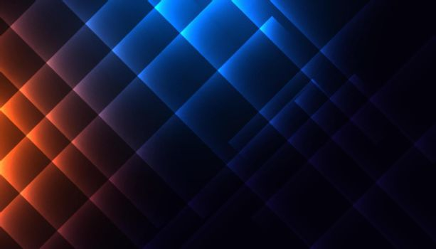 shiny diagonal lines in blue and orange colors