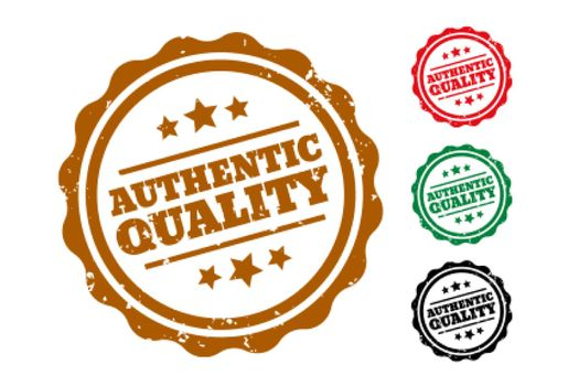 authentic quality rubber stamps set of four