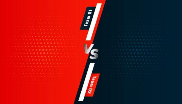 versus vs screen background between two teams