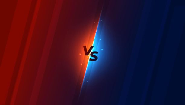 versus vs screen background in shiny style design