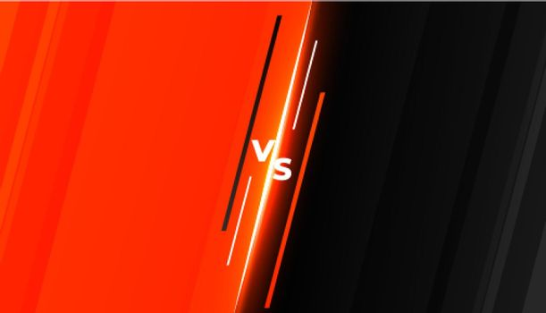 versus vs competition battle background template design