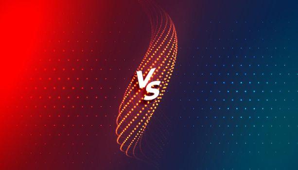 versus vs comparision screen background template design