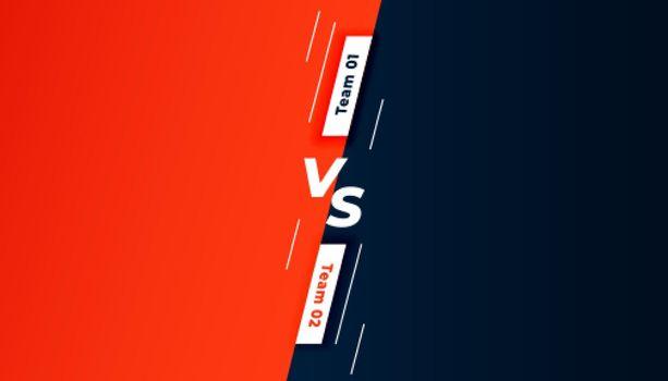 comparision versus vs screen background template design