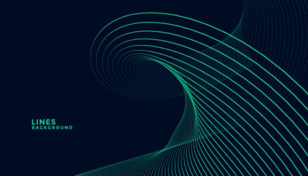 dark background with turquoise wavy lines design