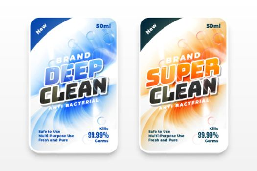 super cleaner and disinfectant labels set of two