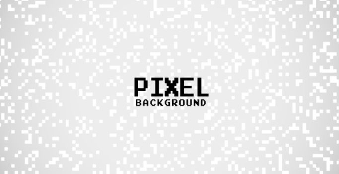 gray background with white pixel dots design