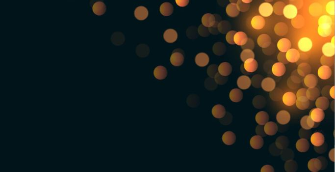 glitterbokeh background with text space area