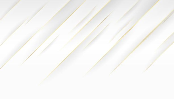 white background and golden diagonal lines design