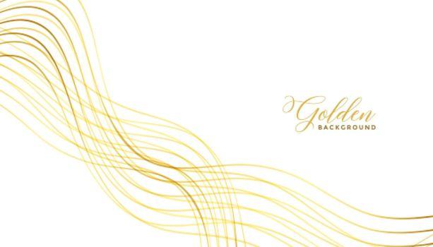 wavy golden lines premium background design