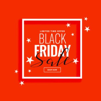black friday sale background frame with stars