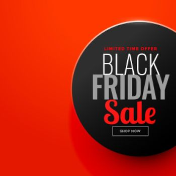 black friday sale circle on red background