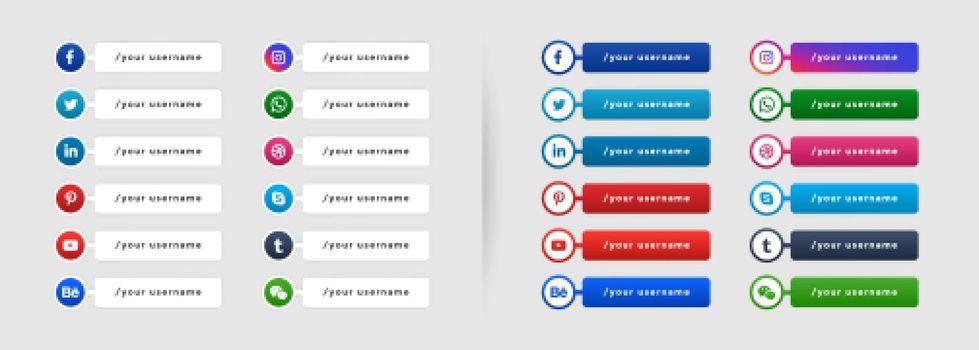 popular social media lower third banner template