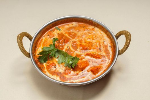 Authentic and traditional Indian cuisine dish known as butter chicken