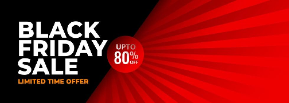 black friday red and black abstract banner design