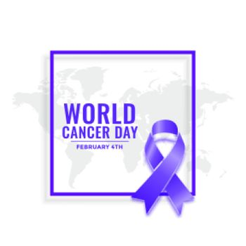 february 4th world cancer day awareness poster design