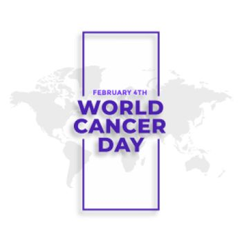world cancer day february 4th event poster design