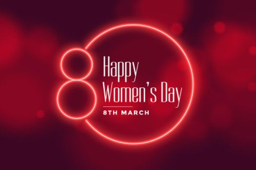 neon style happy womens day background design