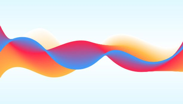 vibrant dynamic wave background in modern style