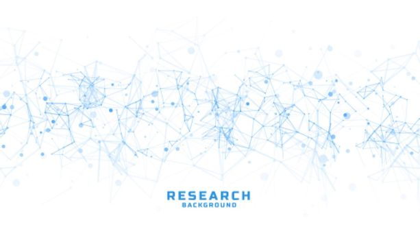 science and research background with abstract lines