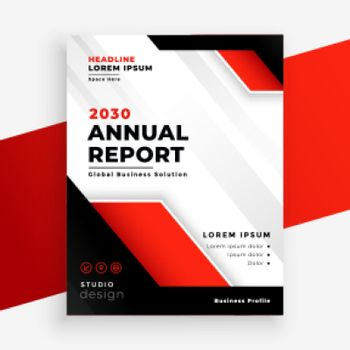 stylish red company annual report business template