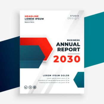 professional business annual report modern template design