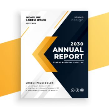 elegant yellow business annual report template design