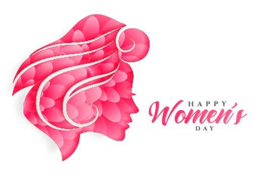 happy womens day flower face banner design