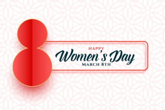 beautiful happy womens day 8th march banner