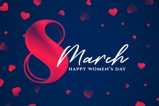 8th march happy womens day stylish background