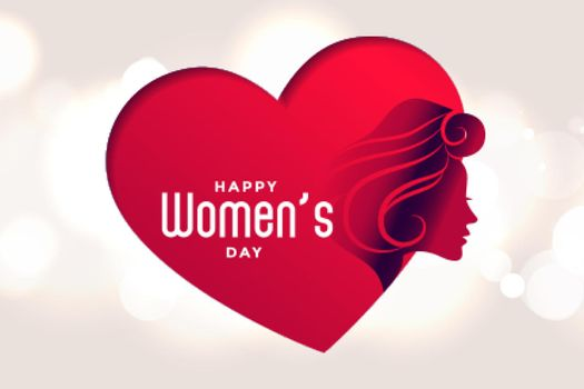 happy womens day beart and face poster design