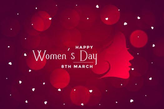 happy womens day beautiful bokeh banner design