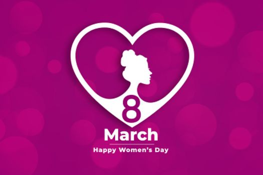 creative womens day event banner in heart style