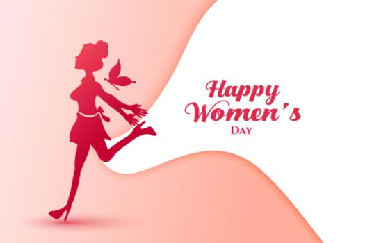 lady in joy for happy womens day poster
