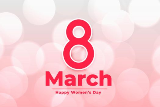 interhational march 8th happy womens day banner