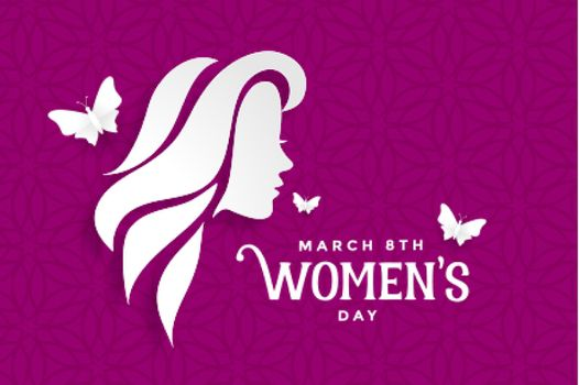 happy womens day lovely purple banner design