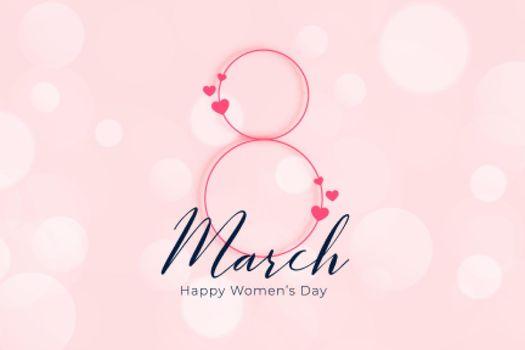 elegant happy womens day march 8th banner